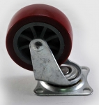 Колесо с креплением поворотное  50 мм коричневое