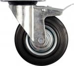 Колесо с креплением поворотное  75 мм с тормозом