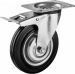 Колесо с креплением поворотное 100 мм с тормозом