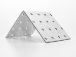 Крепежный уголок равносторонний KUR  40 х 40 x 60мм