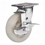 Колесо полиамидное поворотное с тормозом 200 мм