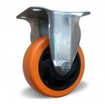 Колесо с креплением 125 мм оранжевое