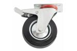 Колесо с креплением поворотное 125 мм с тормозом