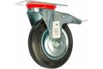 Колесо с креплением поворотное 160 мм с тормозом