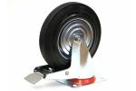 Колесо с креплением поворотное 160 мм усиленное с тормозом