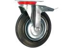Колесо с креплением поворотное 200 мм с тормозом