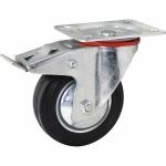 Колесо с креплением поворотное 200 мм усиленное с тормозом