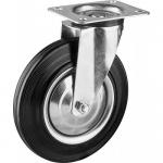 Колесо с креплением поворотное 200 мм усиленное