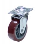 Колесо с креплением поворотное  32 мм коричневое