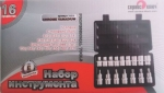 Набор автом. инструмента TORX 16 пр. Е10-Е24, Т30-Т70