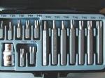 Набор бит автомобильный 15 пр. TORX Т20-Т55