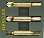 Набор экстракторов для выкручивания крепежа PH1/PZ1,PH2/PZ2,PH3/PZ3,3 предмета