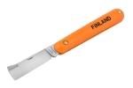 Нож прививочный с прямым лезвием из нерж. стали Finland