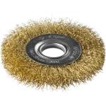 Щетка для УШМ дисковая 100 мм с витой лат. проволокой