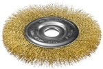 Щетка для УШМ дисковая 150 мм с витой лат. проволокой