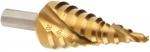 Ступенчатое сверло по металлу D=4-30мм 14 шагов с TIN покрытием