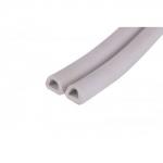 Уплотнитель профиль D 14 х 12 мм Белый двойной