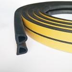 Уплотнитель профиль D 14 х 12 мм Черный двойной